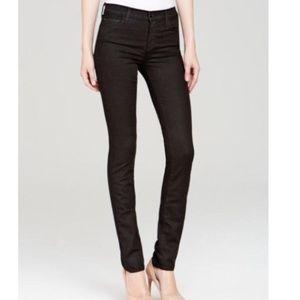J Brand Mid Rise Rail Jeans in Vanity